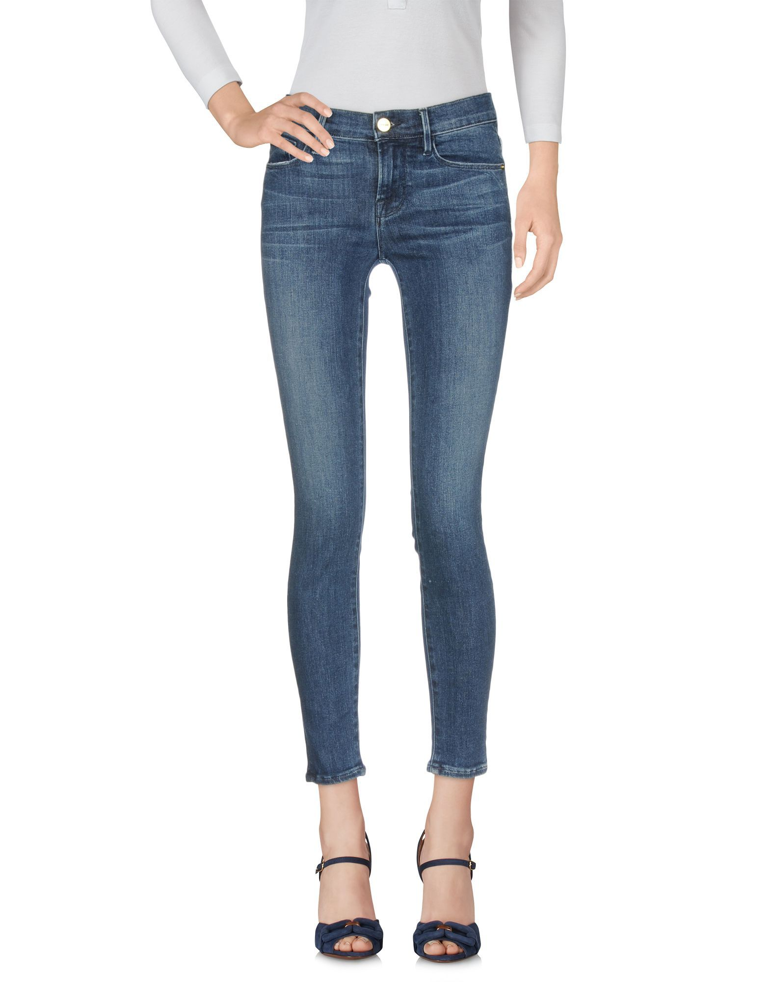 Frame Blue Cotton Pantaloni jeans
