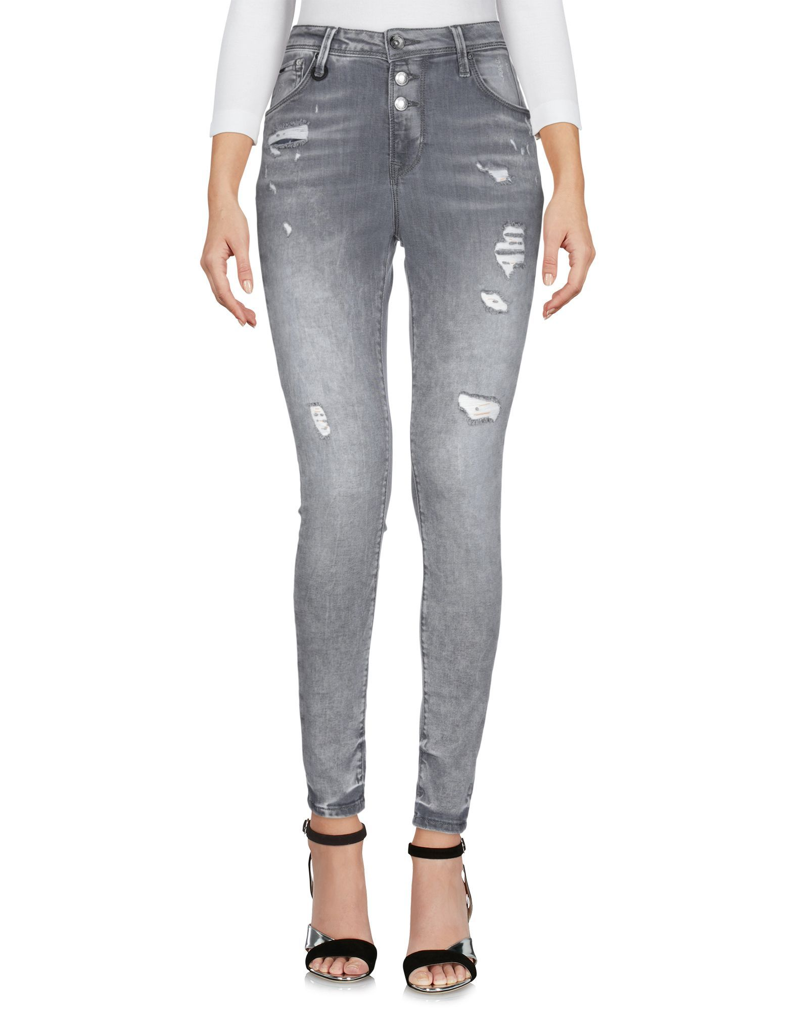 Only Grey Cotton Skinny Jeans