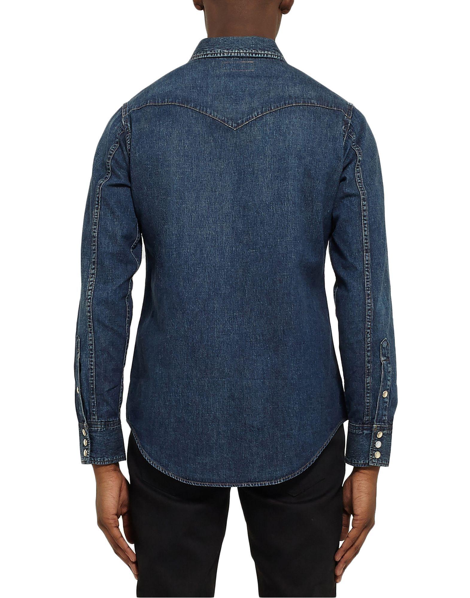 DENIM Saint Laurent Blue Man Cotton