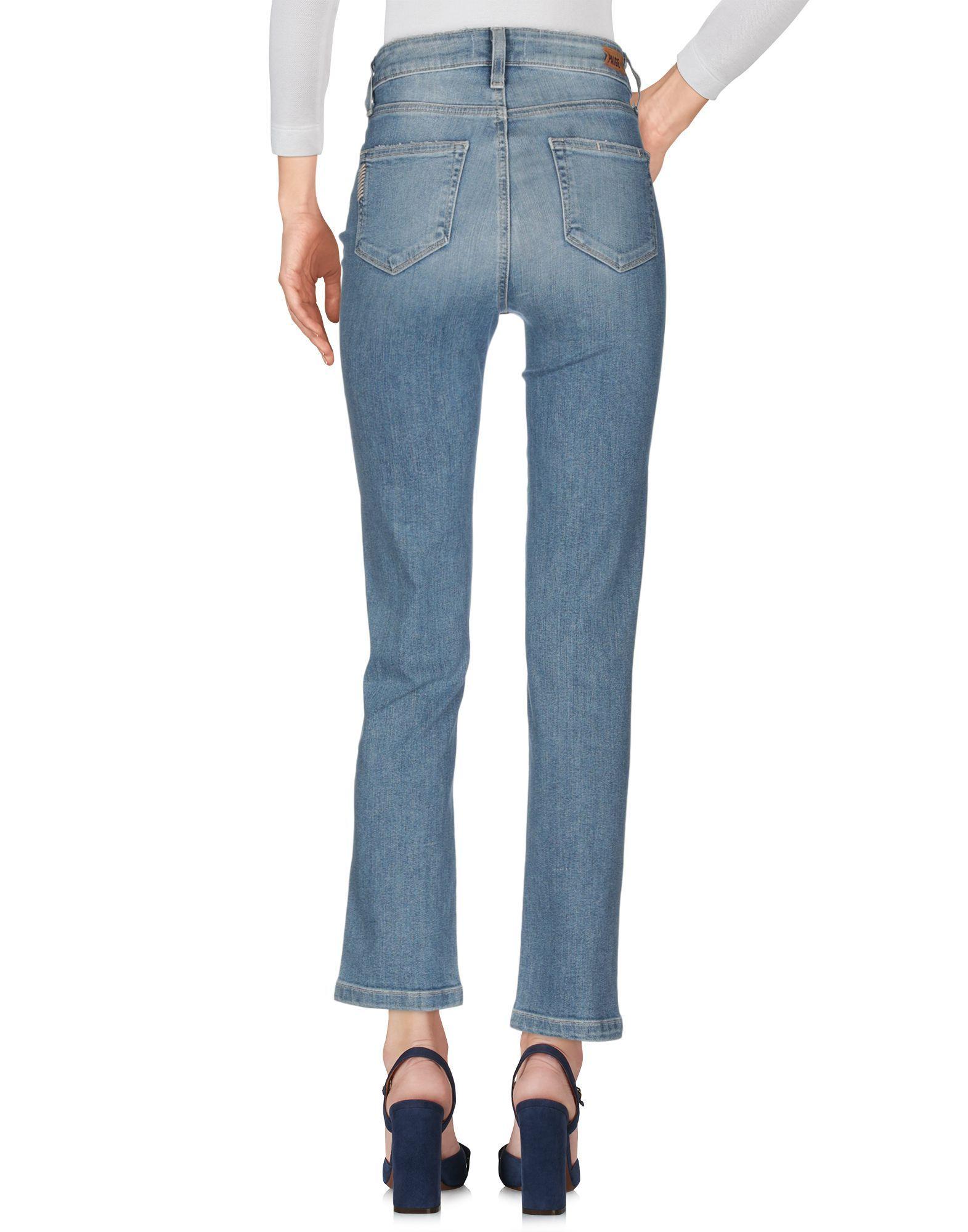 Paige Blue Cotton Light Wash Jeans