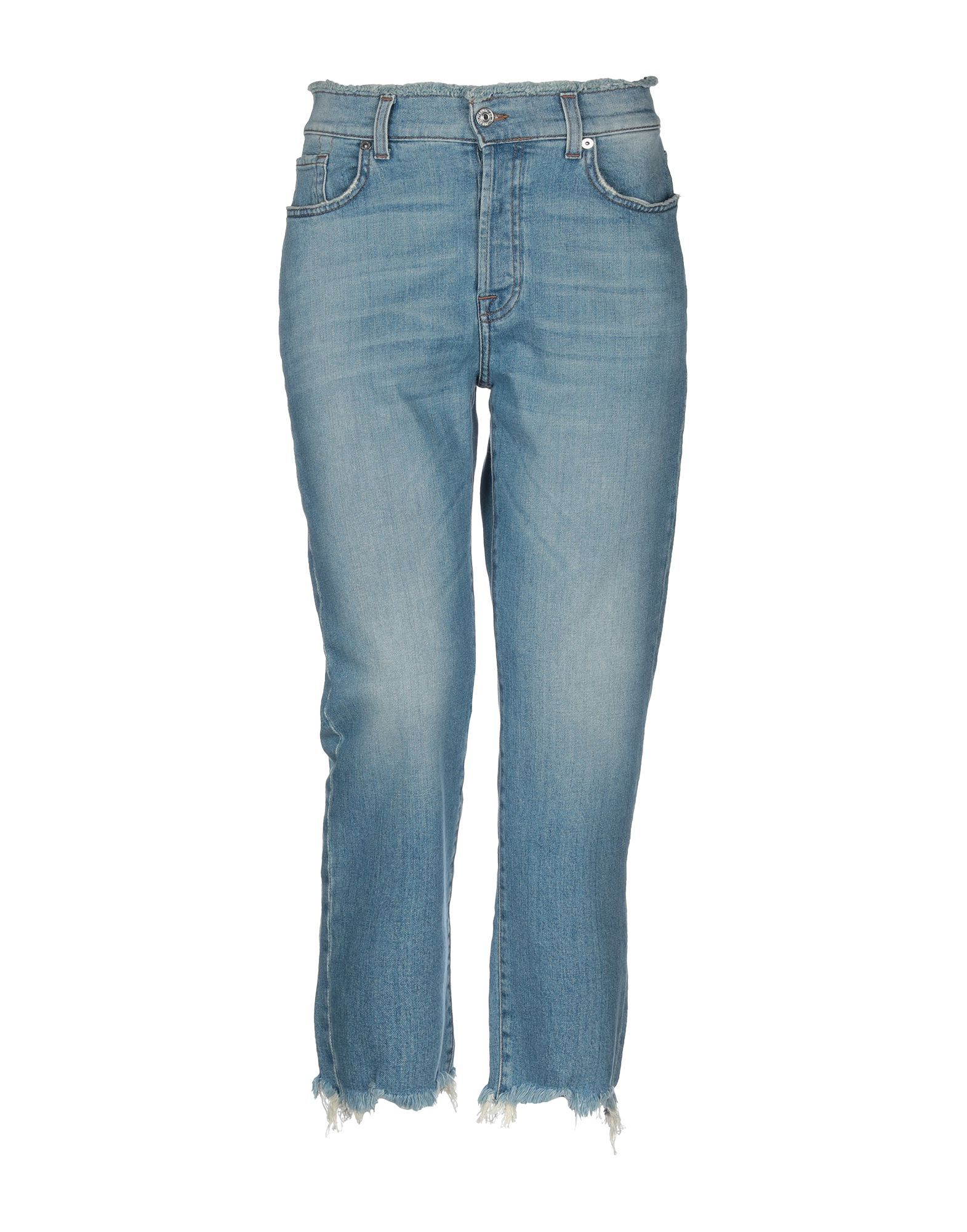 7 For All Mankind Blue Cotton High Waisted Jeans