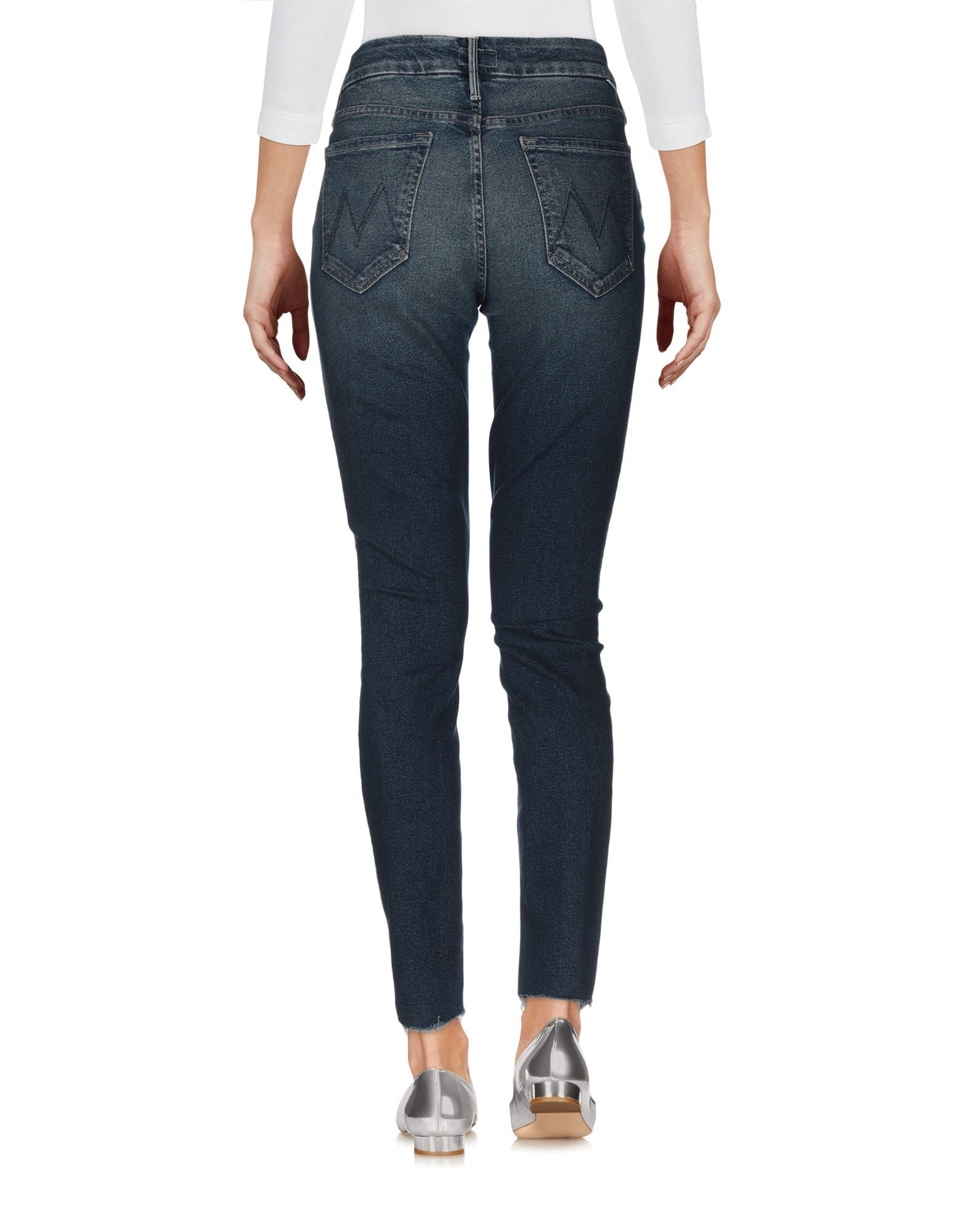 Mother Blue Cotton Skinny Jeans