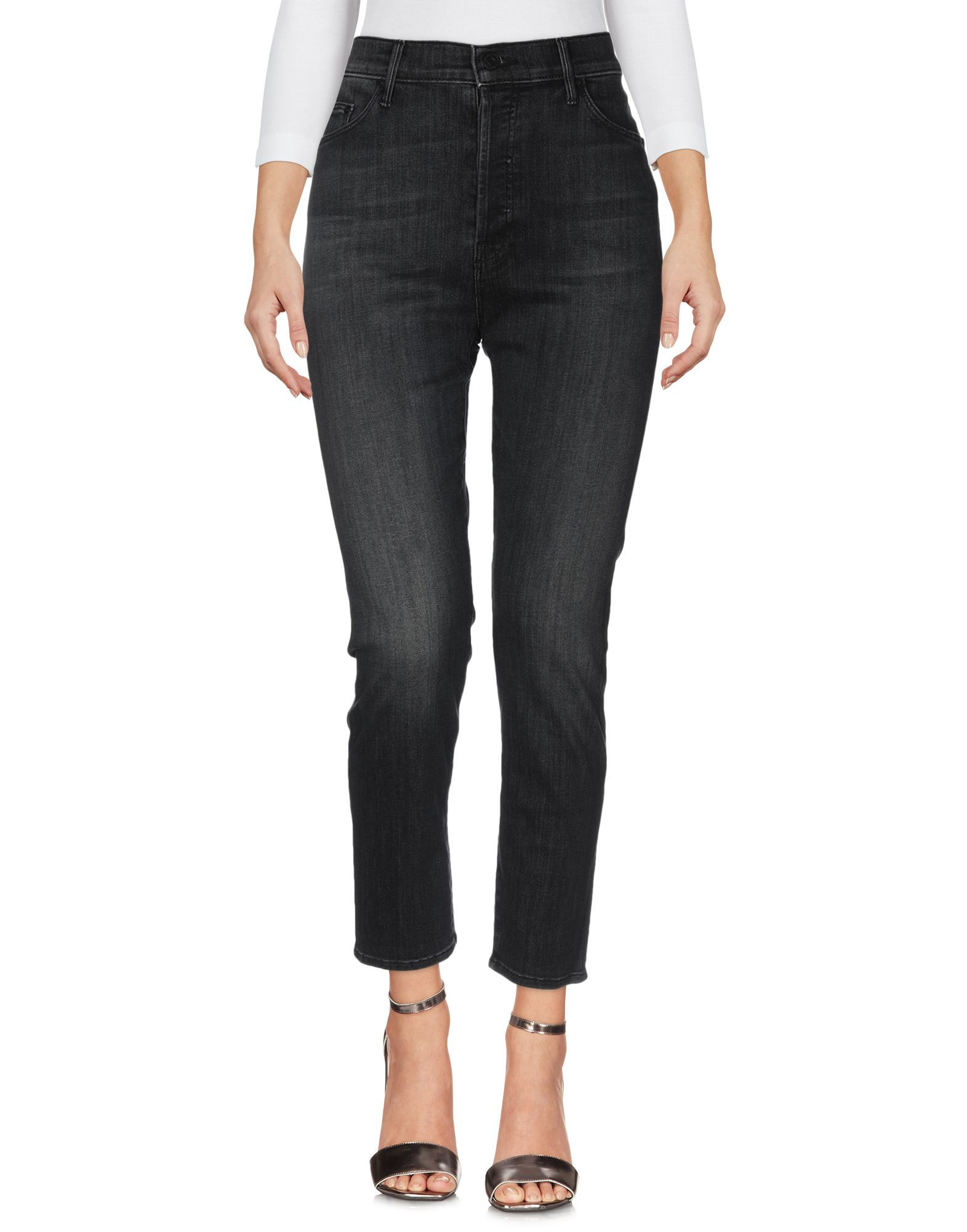 Mother Steel Grey Cotton Jeans