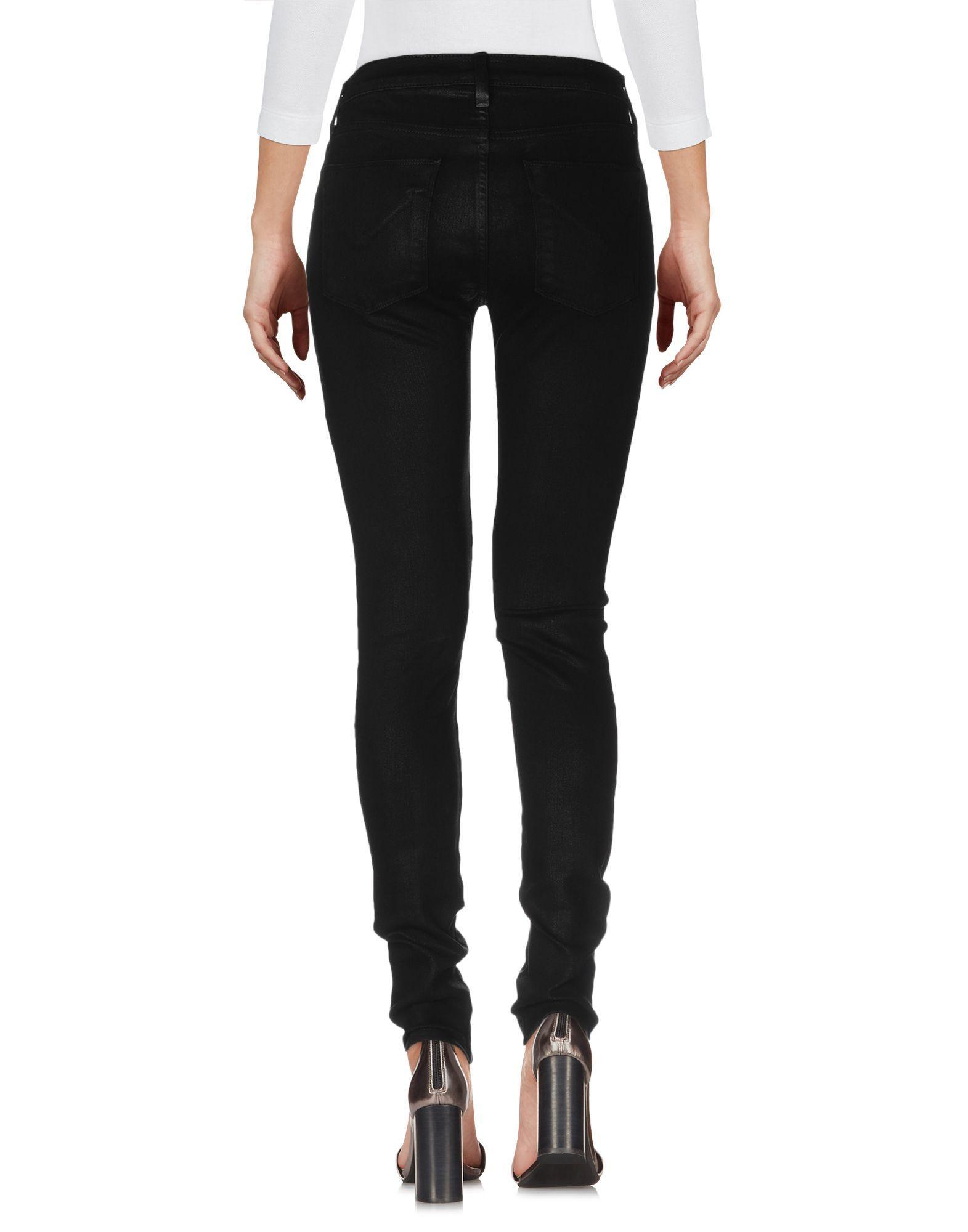 Hudson Black Cotton Skinny Jeans