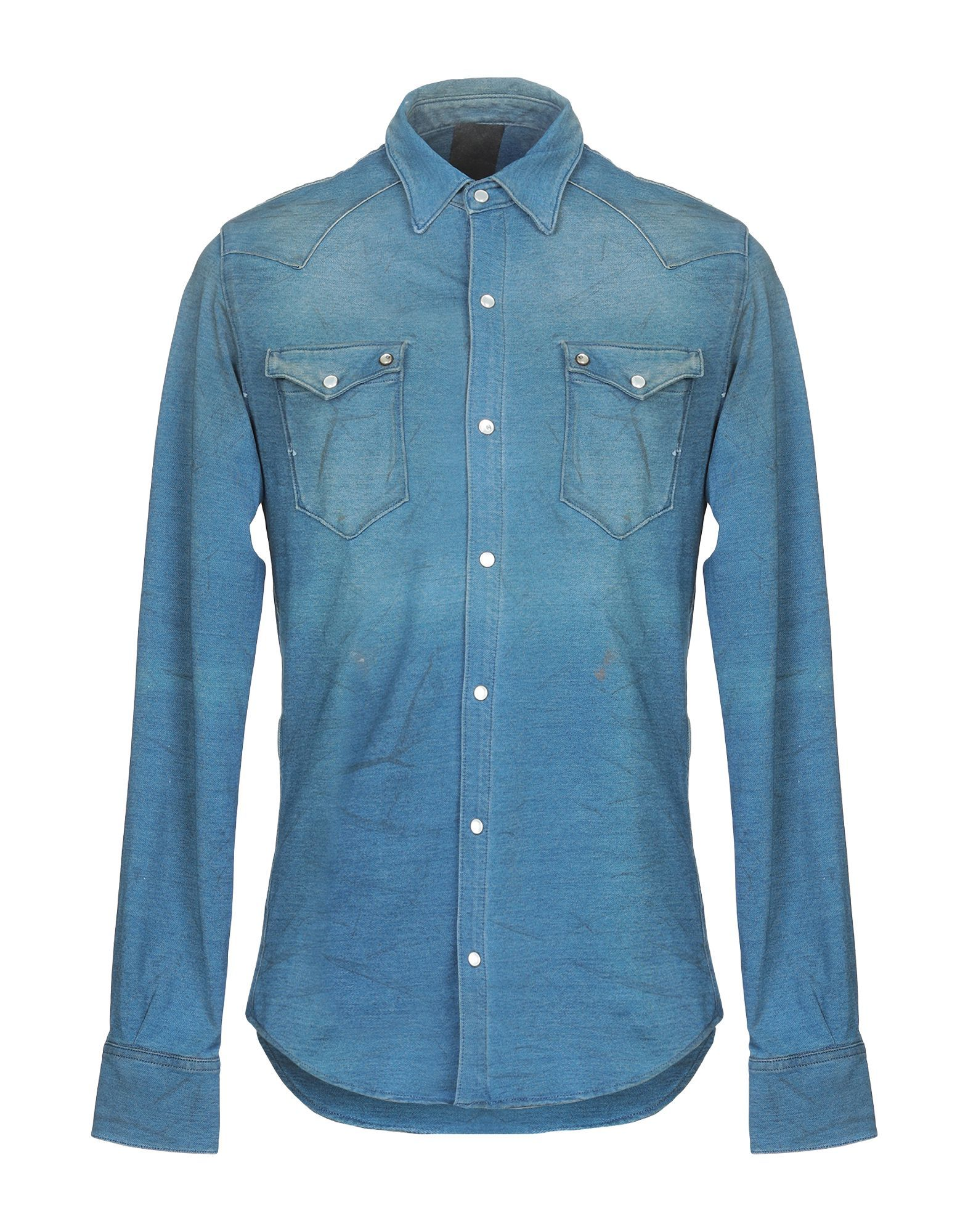 (+) People Blue Denim Shirt