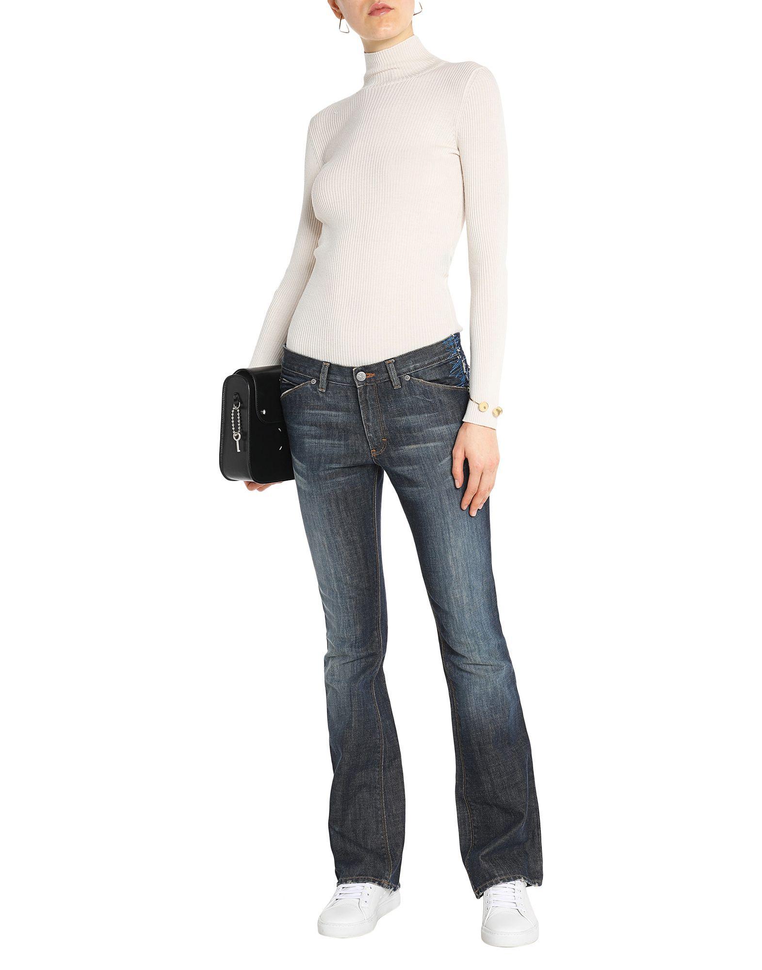 Calvin Klein Jeans Blue Cotton Pantaloni jeans