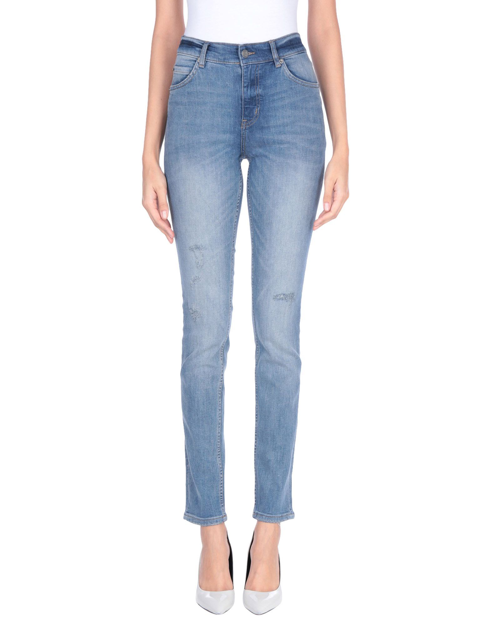 Cheap Monday Blue Cotton Mid Rise Jeans