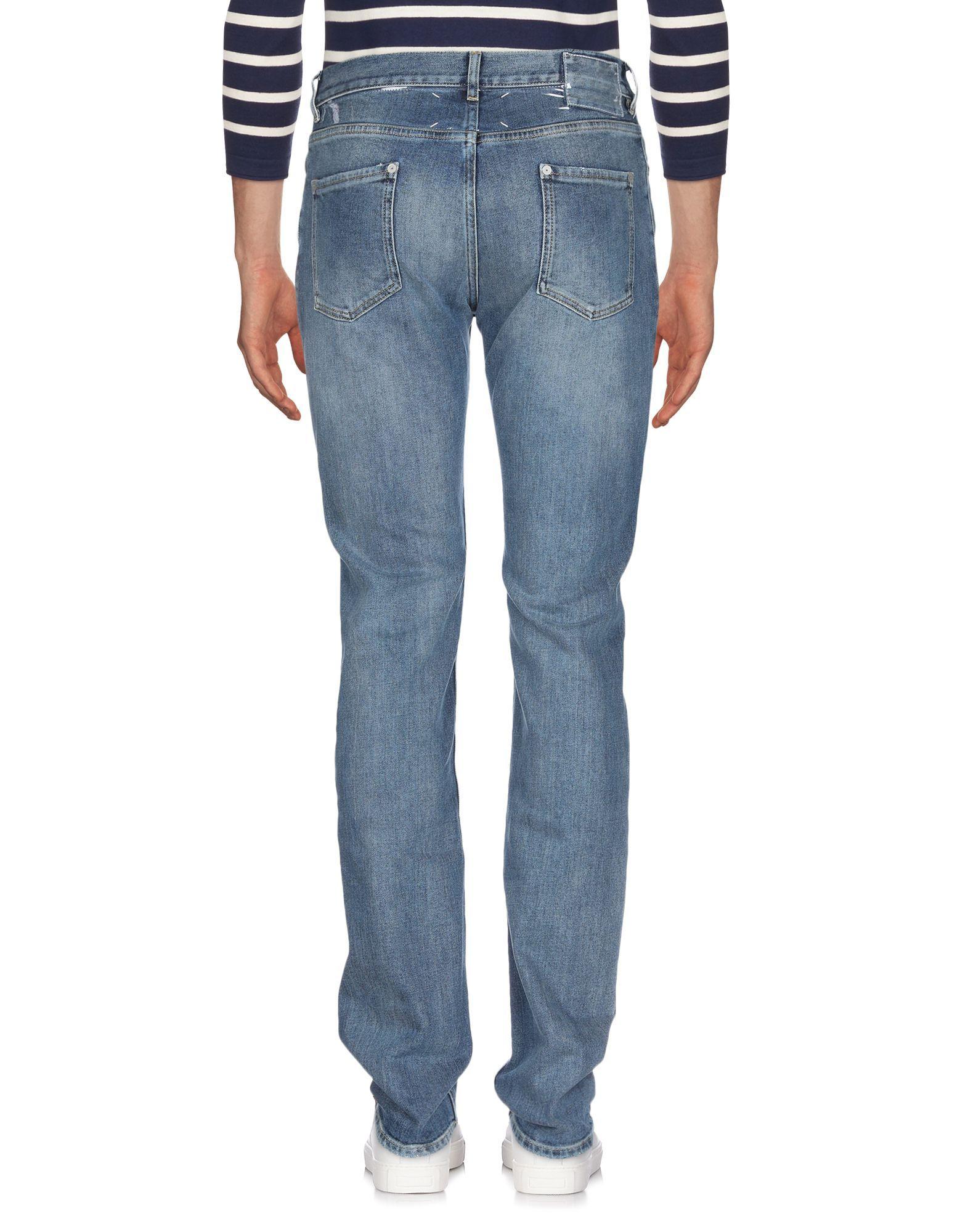 Maison Margiela Blue Cotton Jeans