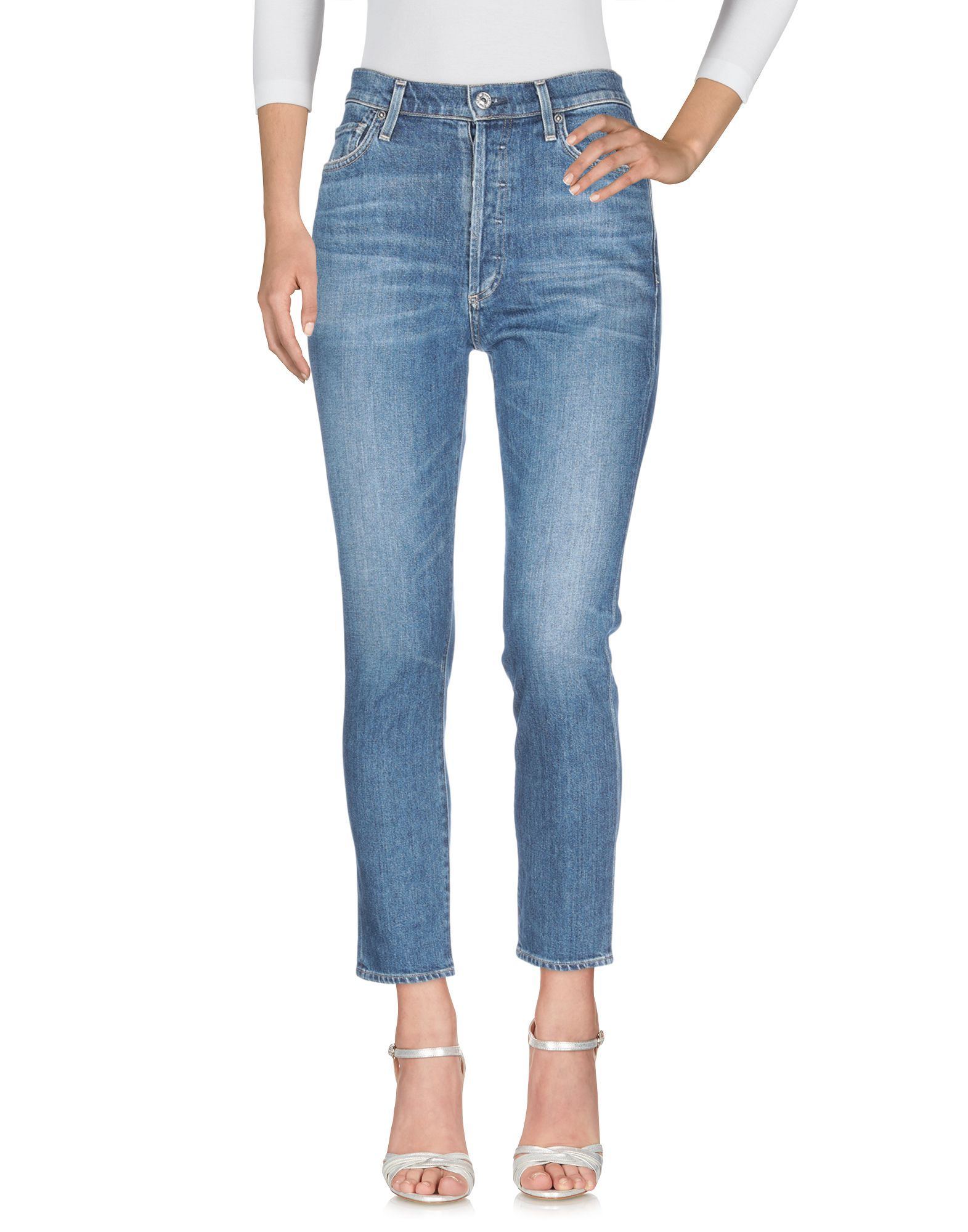 Citizens Of Humanity Blue Cotton Mid Rise Jeans