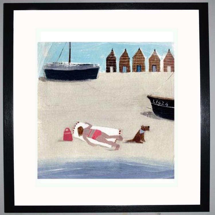 Sunbathing Art Print by Hannah Cole