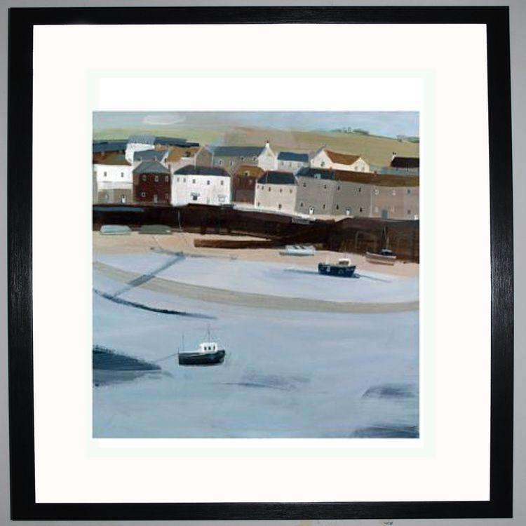 Mousehole Harbour Art Print by Hannah Cole