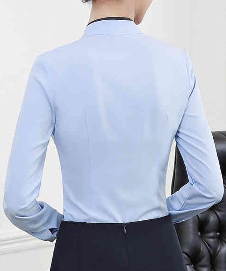 Sky bow long sleeve shirt