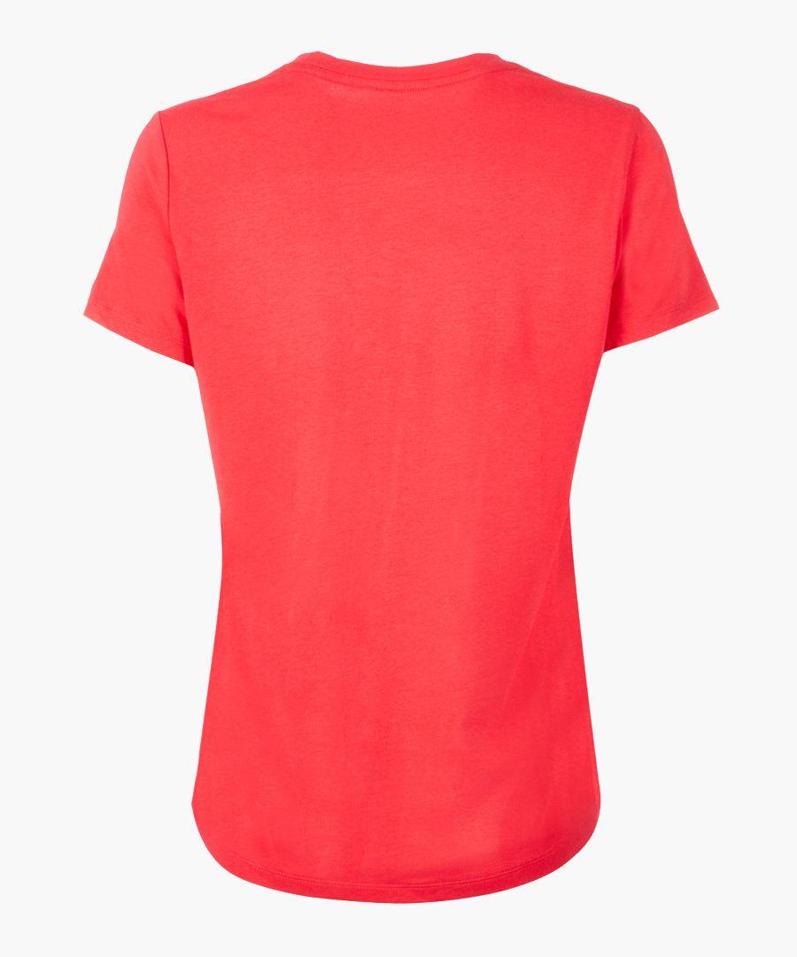 Red logo crew neck T-shirt