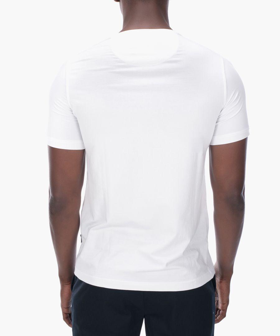 White cotton blend T-shirt