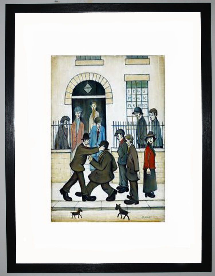 A Fight, c.1935 by L.S. Lowry