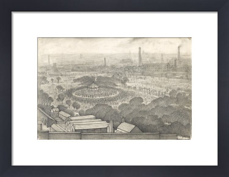 Bandstand, Peel Park, Salford, 1925 by L.S. Lowry