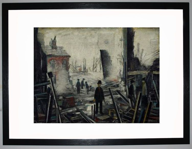 Blitzed Site, 1942 by L.S. Lowry