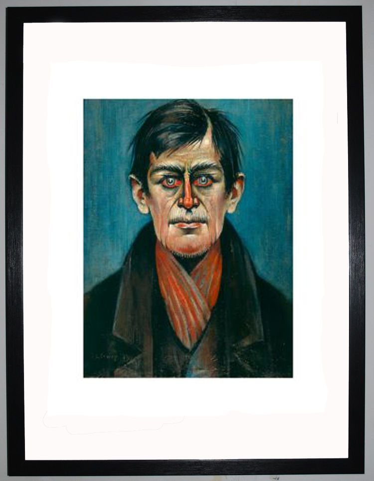 Head Of A Man (With Red Eyes), 1938 by L.S. Lowry
