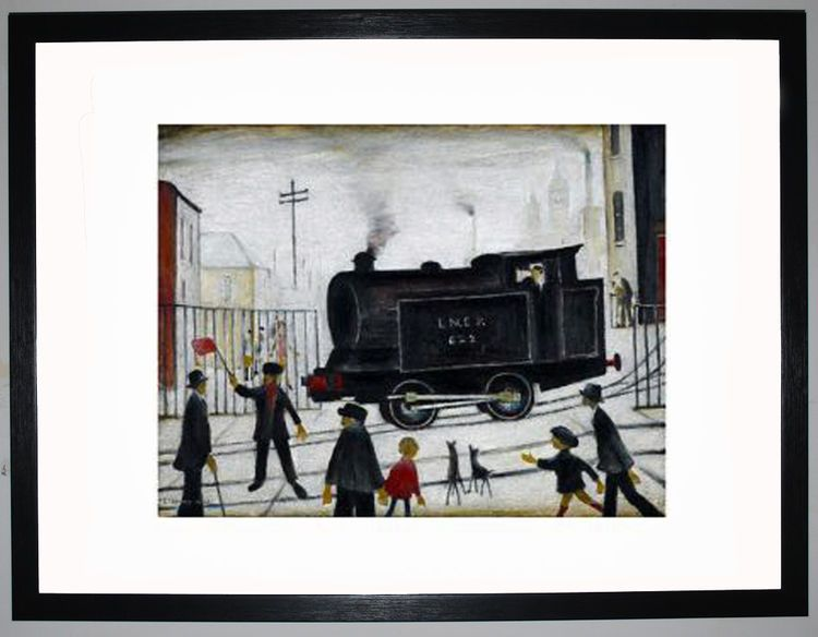 Level Crossing, 1946 by L.S. Lowry