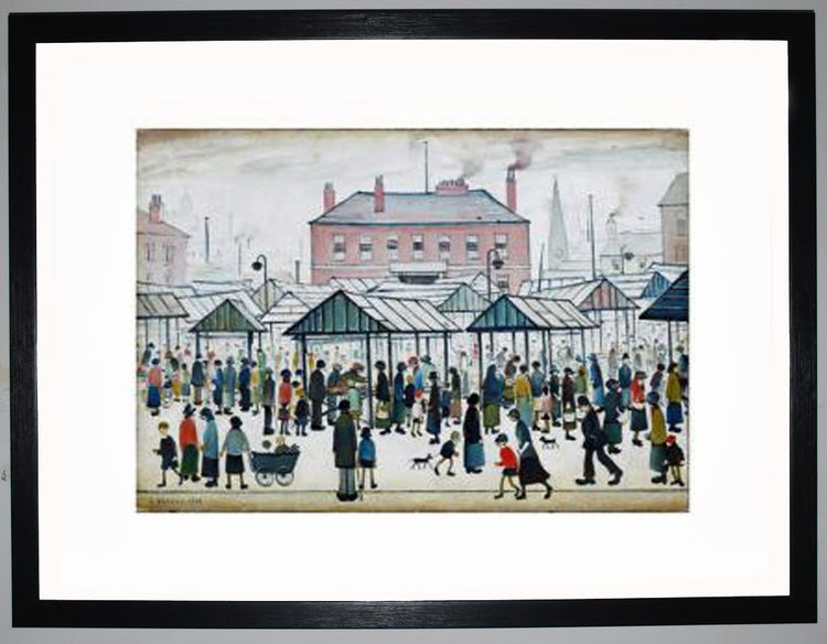 Market Scene, Northern Town, 1939 by L.S. Lowry