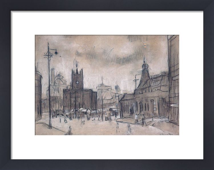 The Flat Iron Market, 1925 by L.S. Lowry