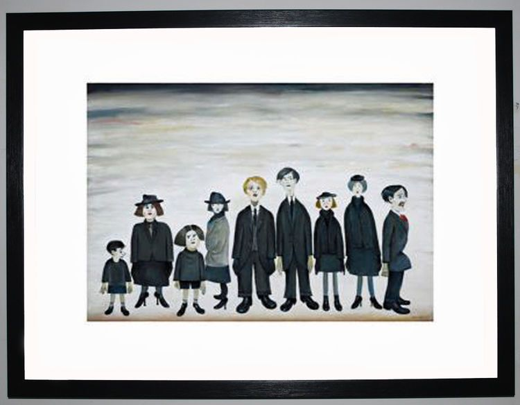 The Funeral Party, 1953 by L.S. Lowry