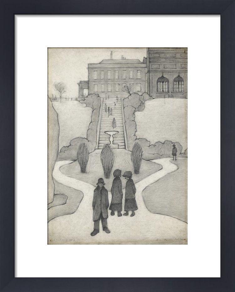 The Steps, Peel Park, Salford, 1930 by L.S. Lowry
