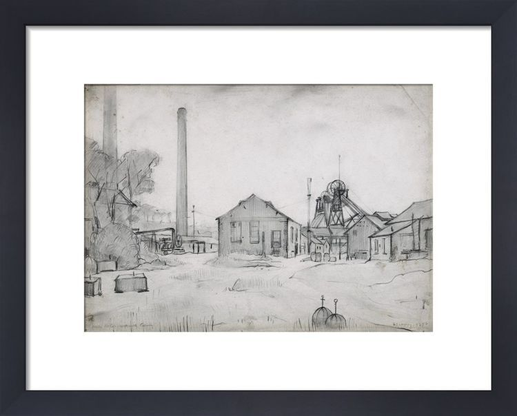 Wet Earth Colliery, Dixon Fold, 1925 by L.S. Lowry