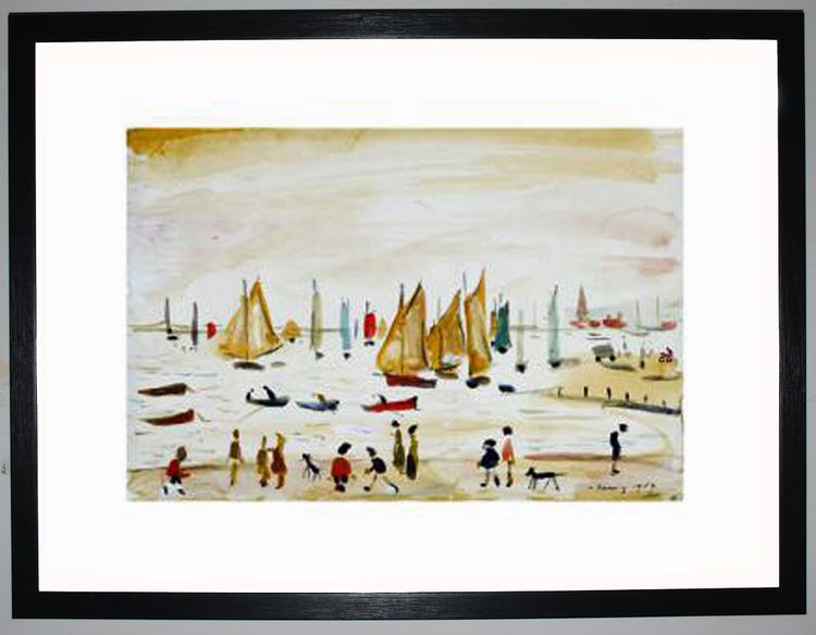 Yachts, 1959 by L.S. Lowry