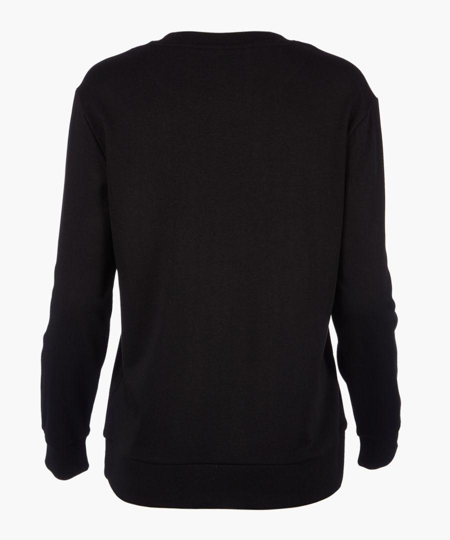Black logo long sleeve jumper