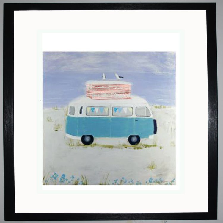 Camping on the Dunes Art Print by Hannah Cole