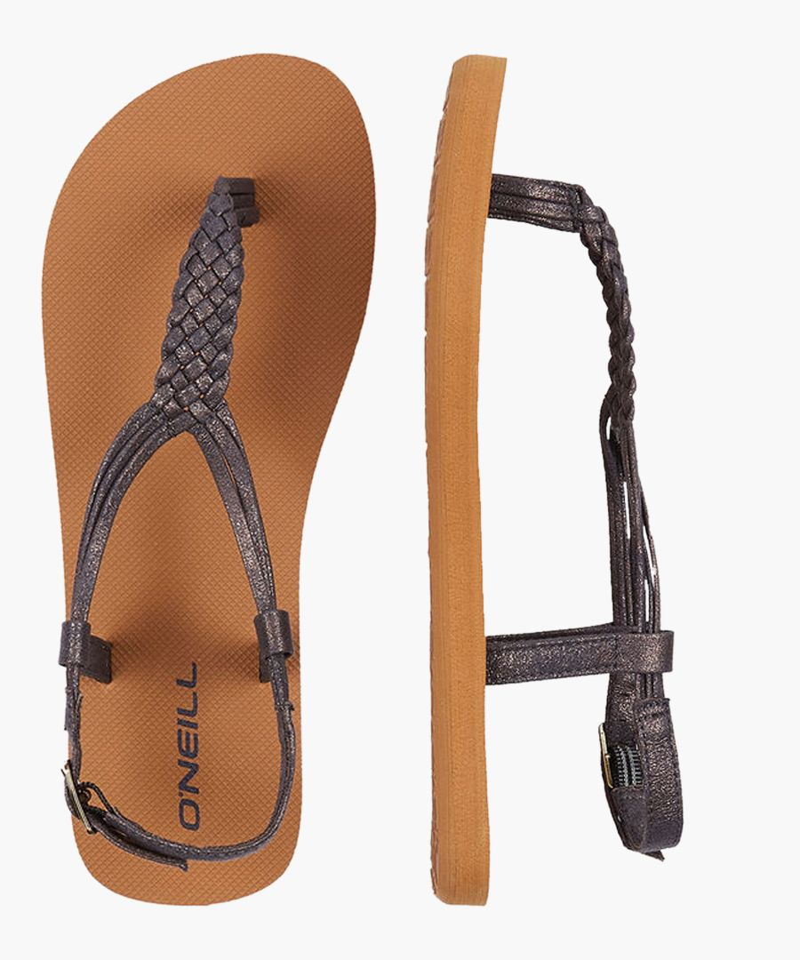 Braided ink blue ditsy sandals