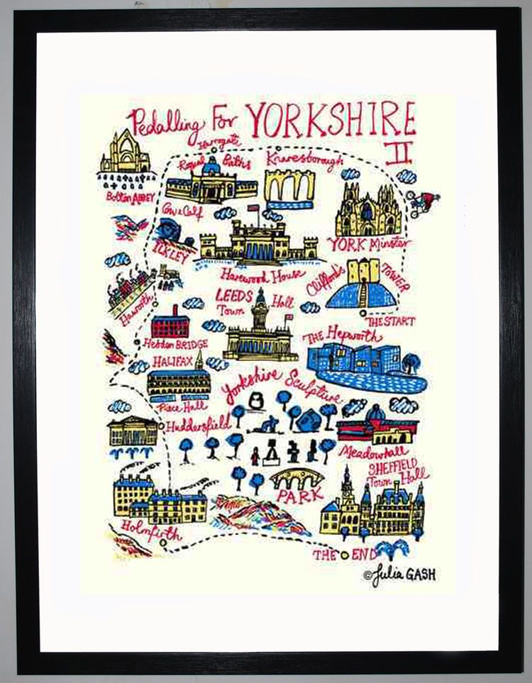 Pedalling for Yorkshire II Cityscape by Julia Gash