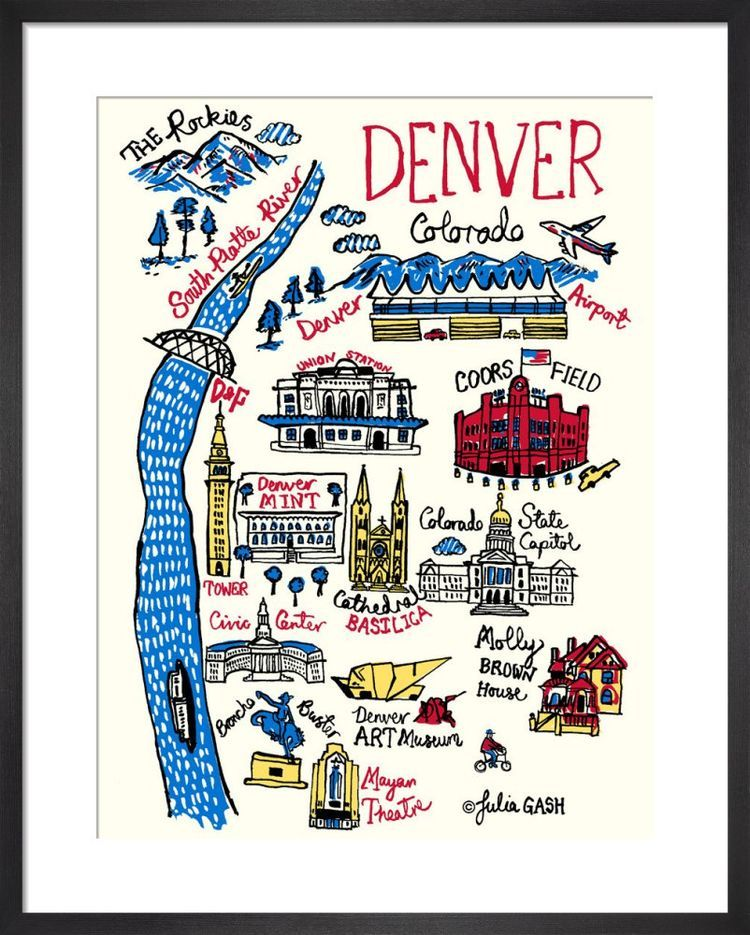 Denver Cityscape by Julia Gash