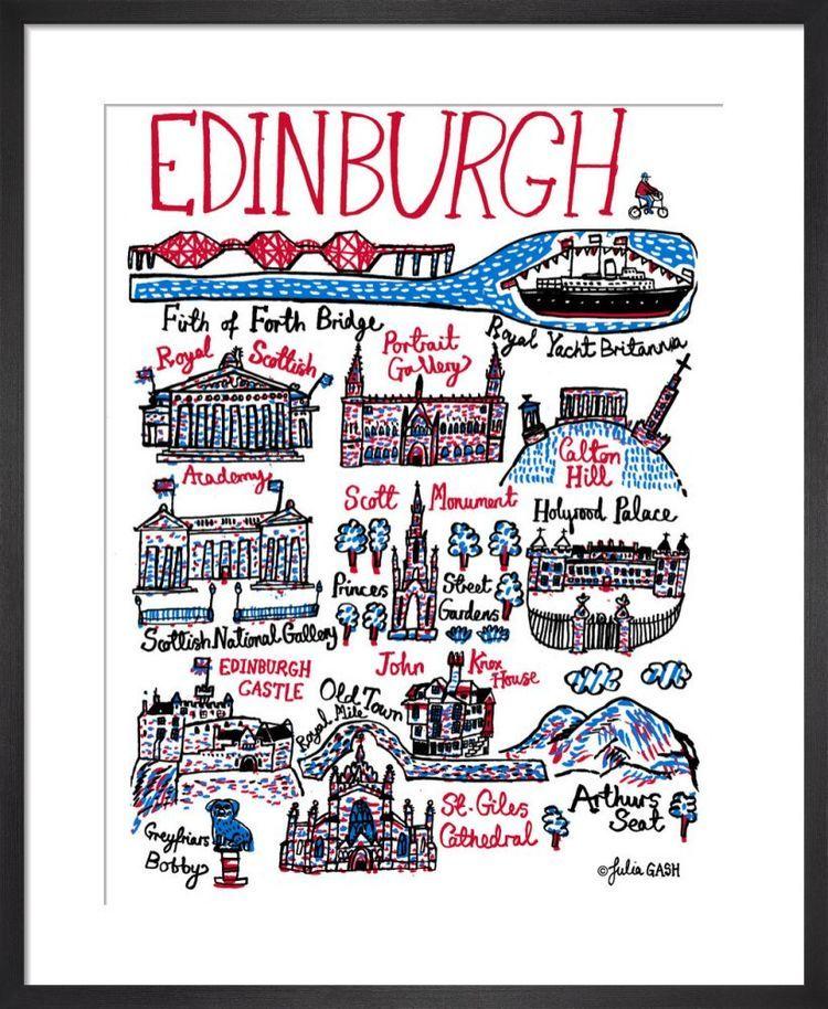 Edinburgh  Cityscape by Julia Gash