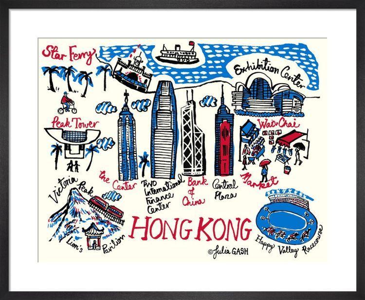A Snapshot of Hong Kong Cityscape by Julia Gash
