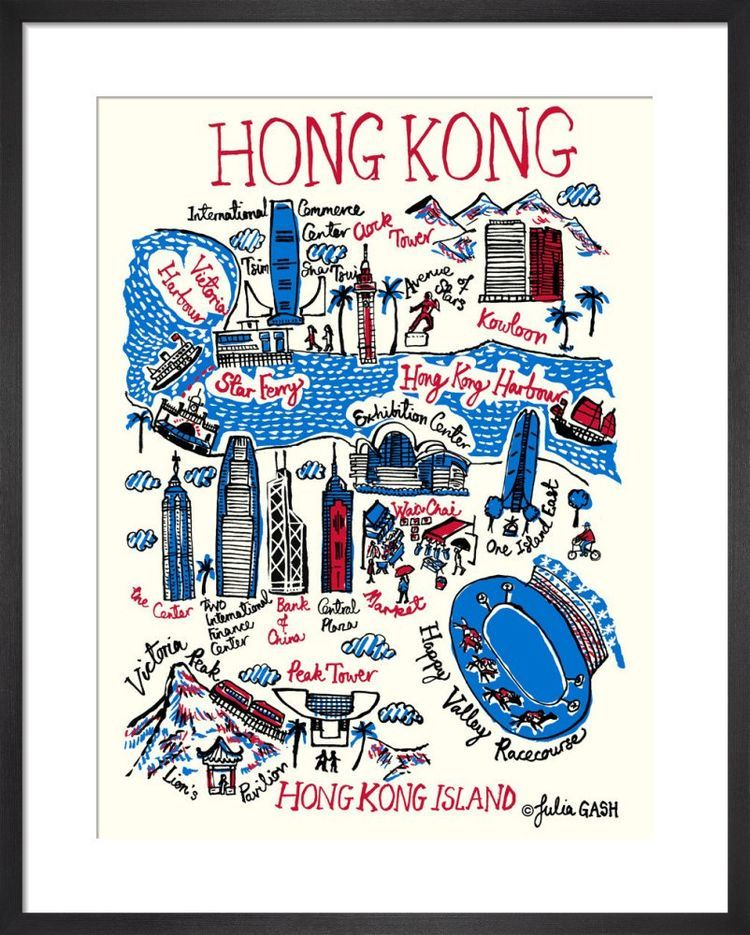 Hong Kong Cityscape by Julia Gash