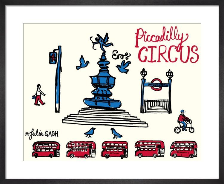A Snapshot of Piccadilly Circus Cityscape by Julia Gash