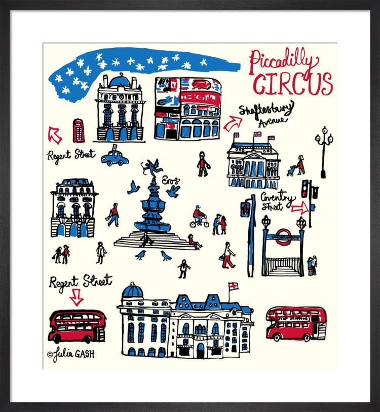 Piccadilly Circus Cityscape by Julia Gash