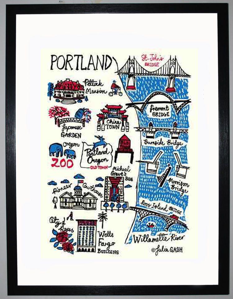 Portland Cityscape by Julia Gash