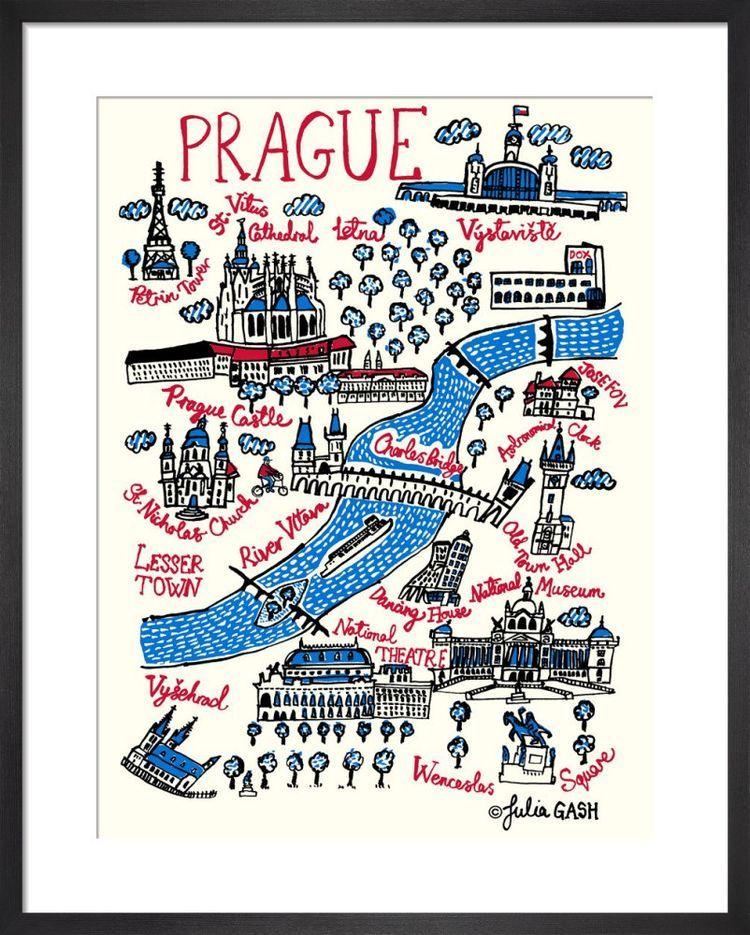 Prague Cityscape by Julia Gash
