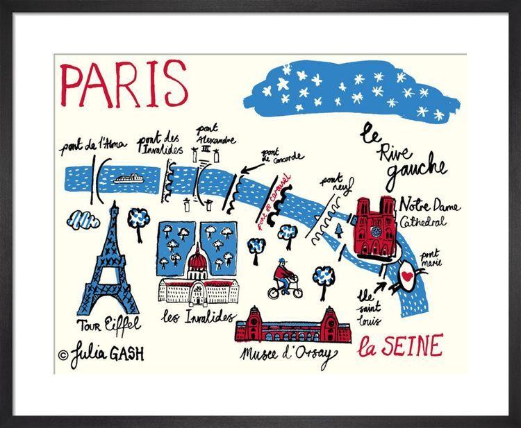 A Snapshot of the Rive Gauche, Paris Cityscape by Julia Gash