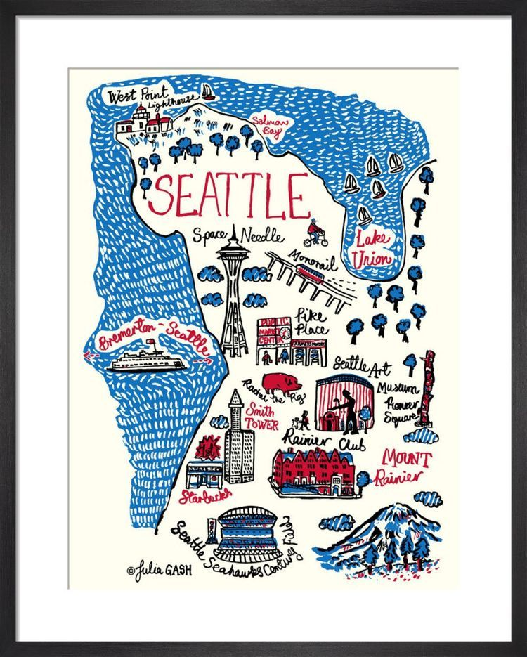 Seattle Cityscape by Julia Gash