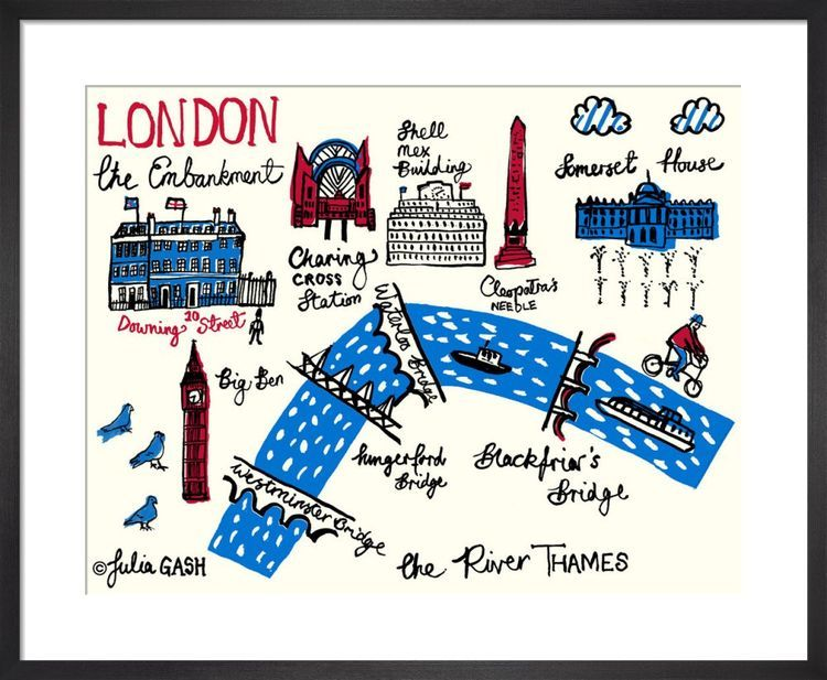 London – The Embankment Cityscape by Julia Gash