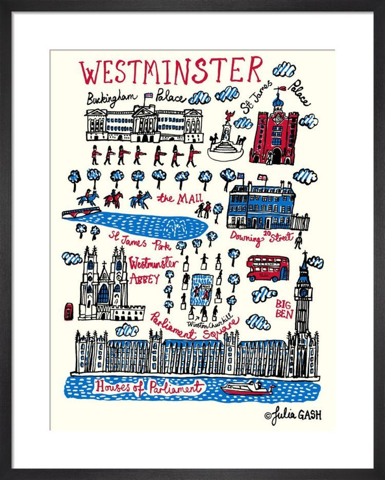 London – Westminster Cityscape by Julia Gash