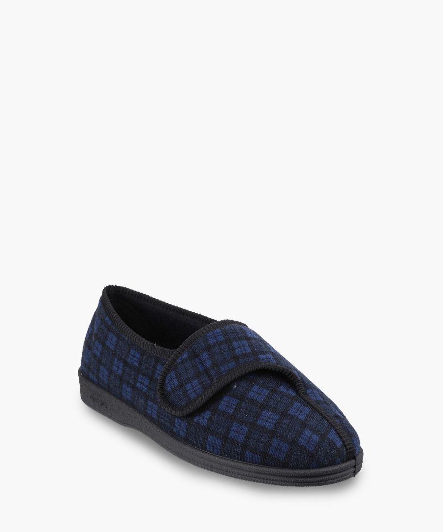 Mens navy slippers