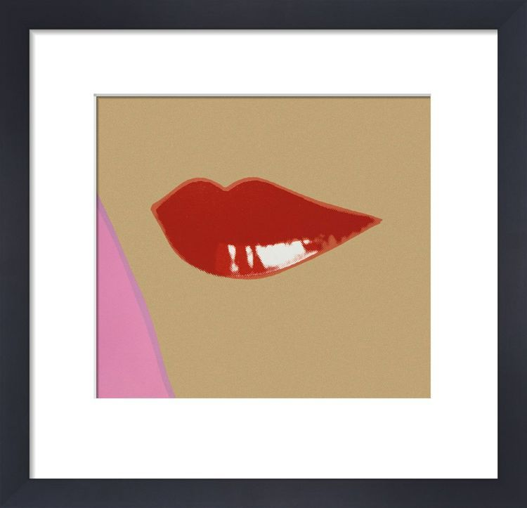 2 page from Lips Book, c.1975 by Andy Warhol