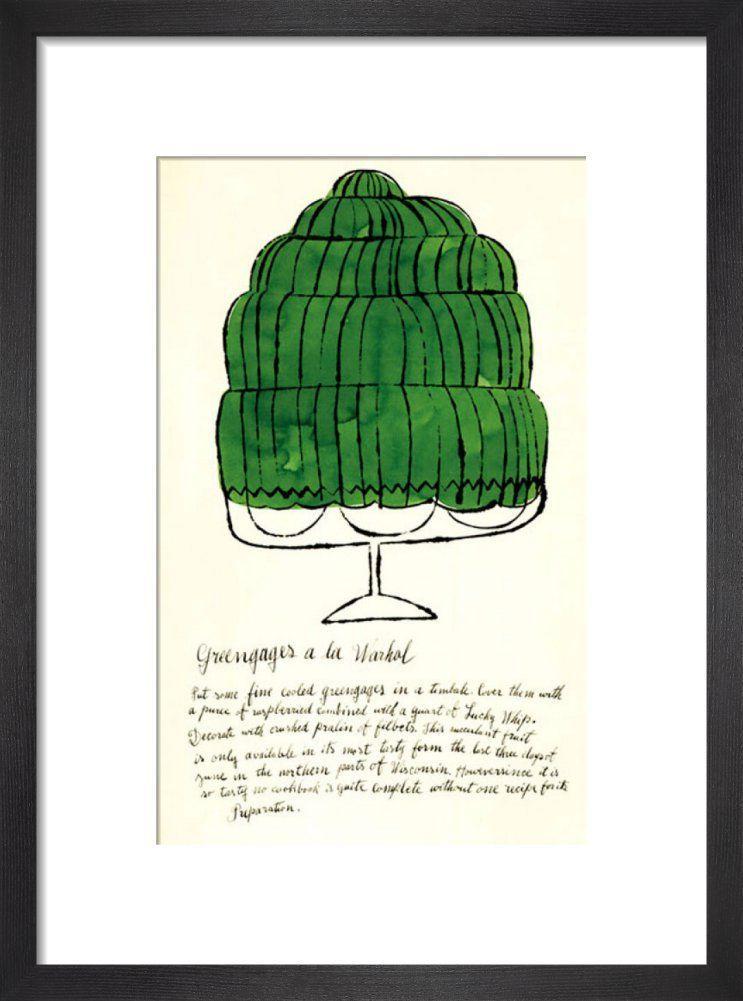 Wild Raspberries, 1959 (green) by Andy Warhol