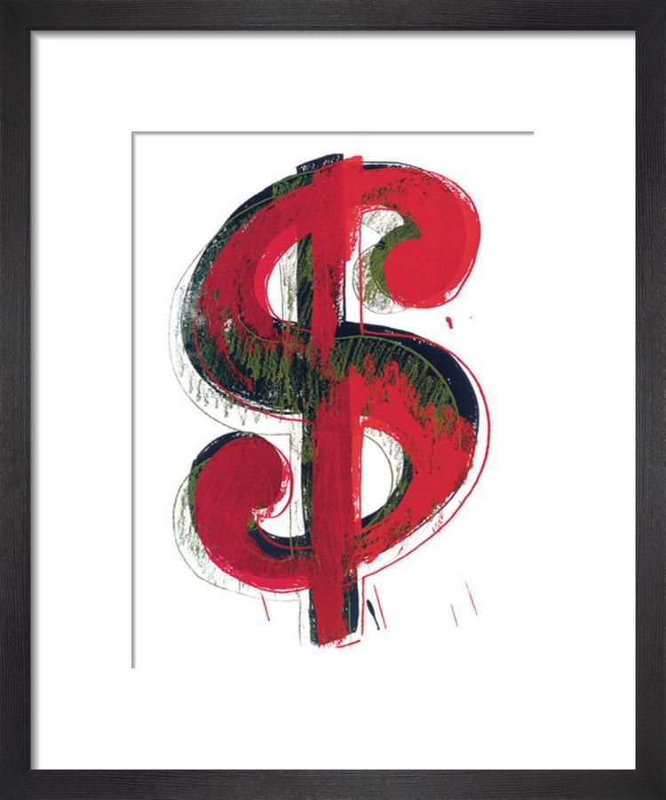 Dollar Sign, 1981 (red) by Andy Warho