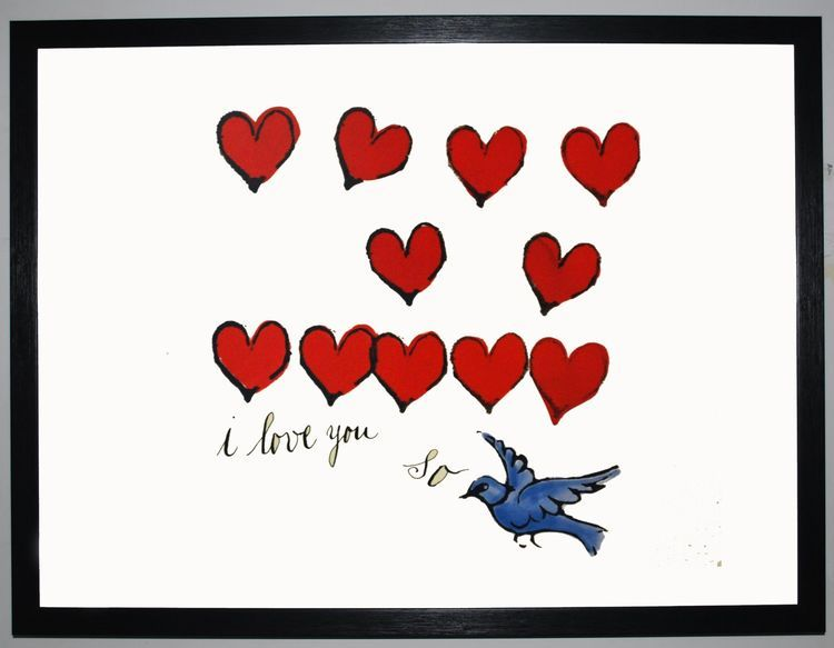 I Love You So, c.1958 by Andy Warhol